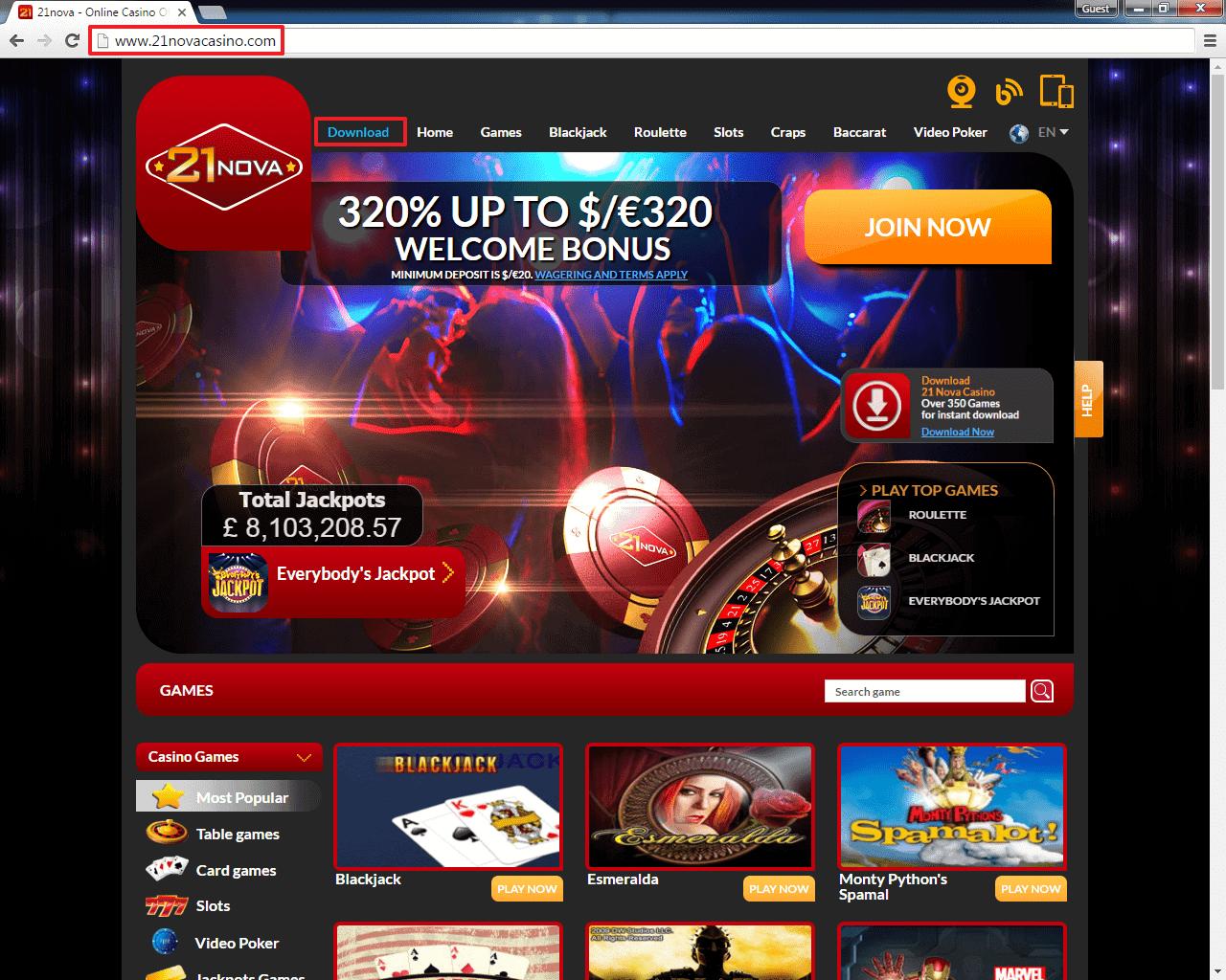 21 нова казино отзывы