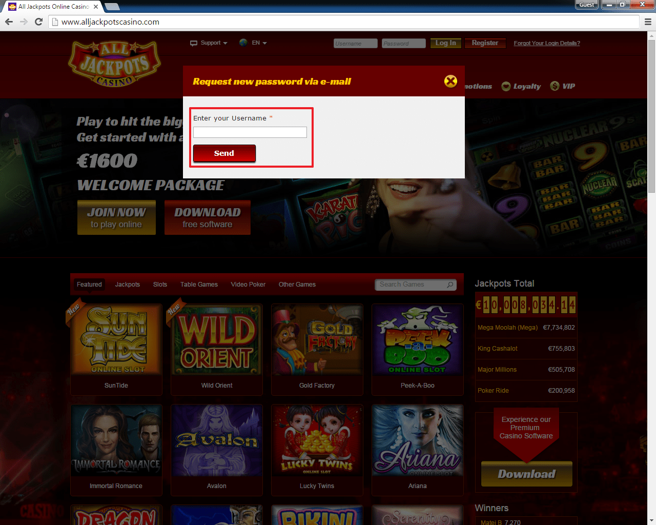All Jackpots casino login 3