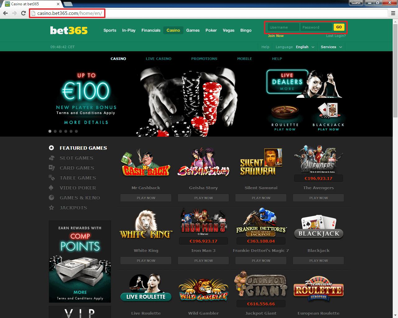 bet365 casino online