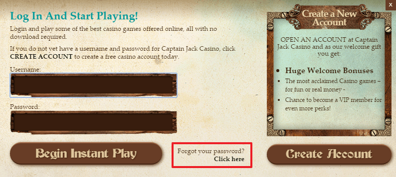Captain Jack Casino login 4