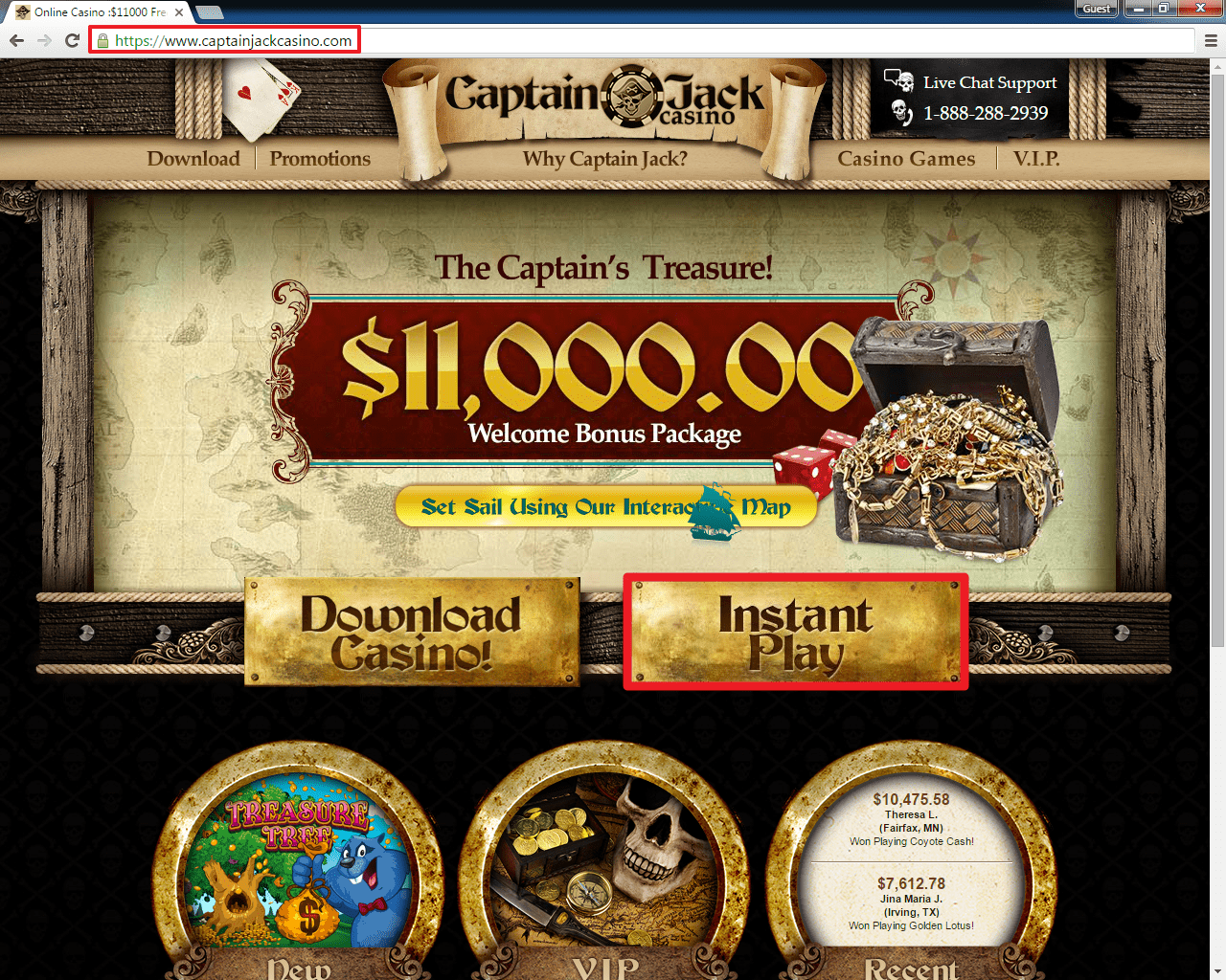 Captain Jack Casino login
