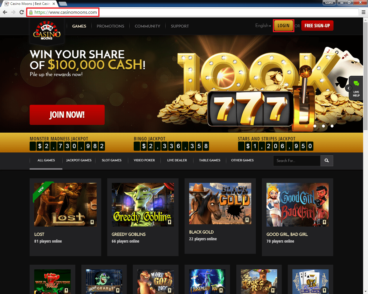 casino moons online casino