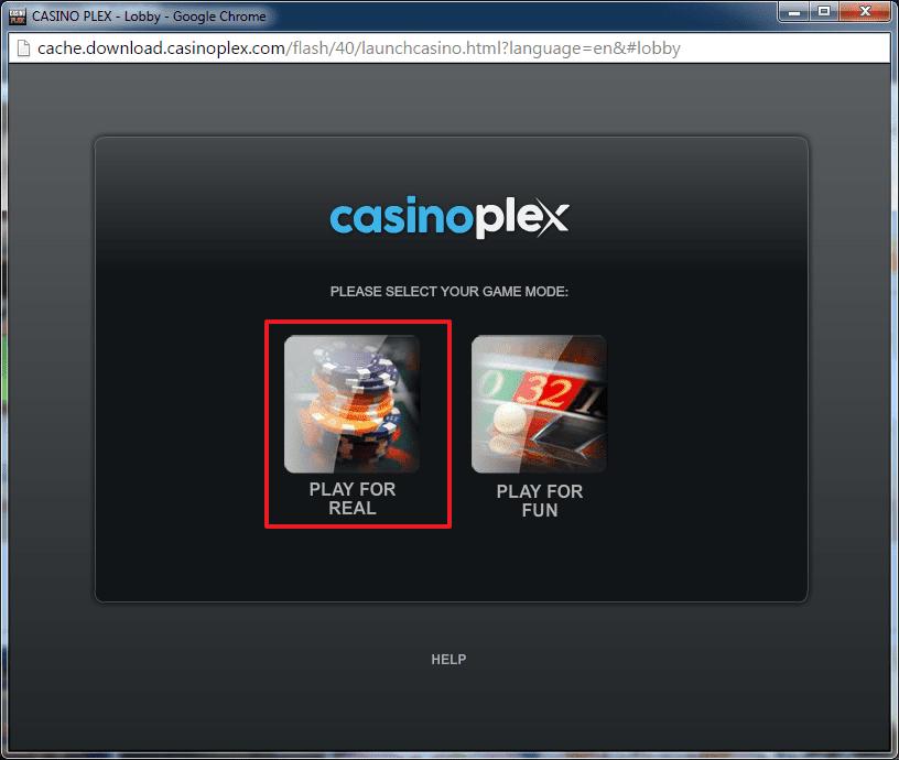 Casino Plex login 2