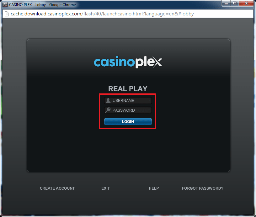 Casino Plex login 3