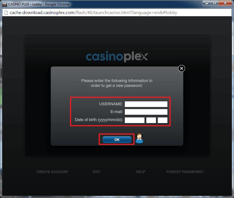 Casino Plex login 5