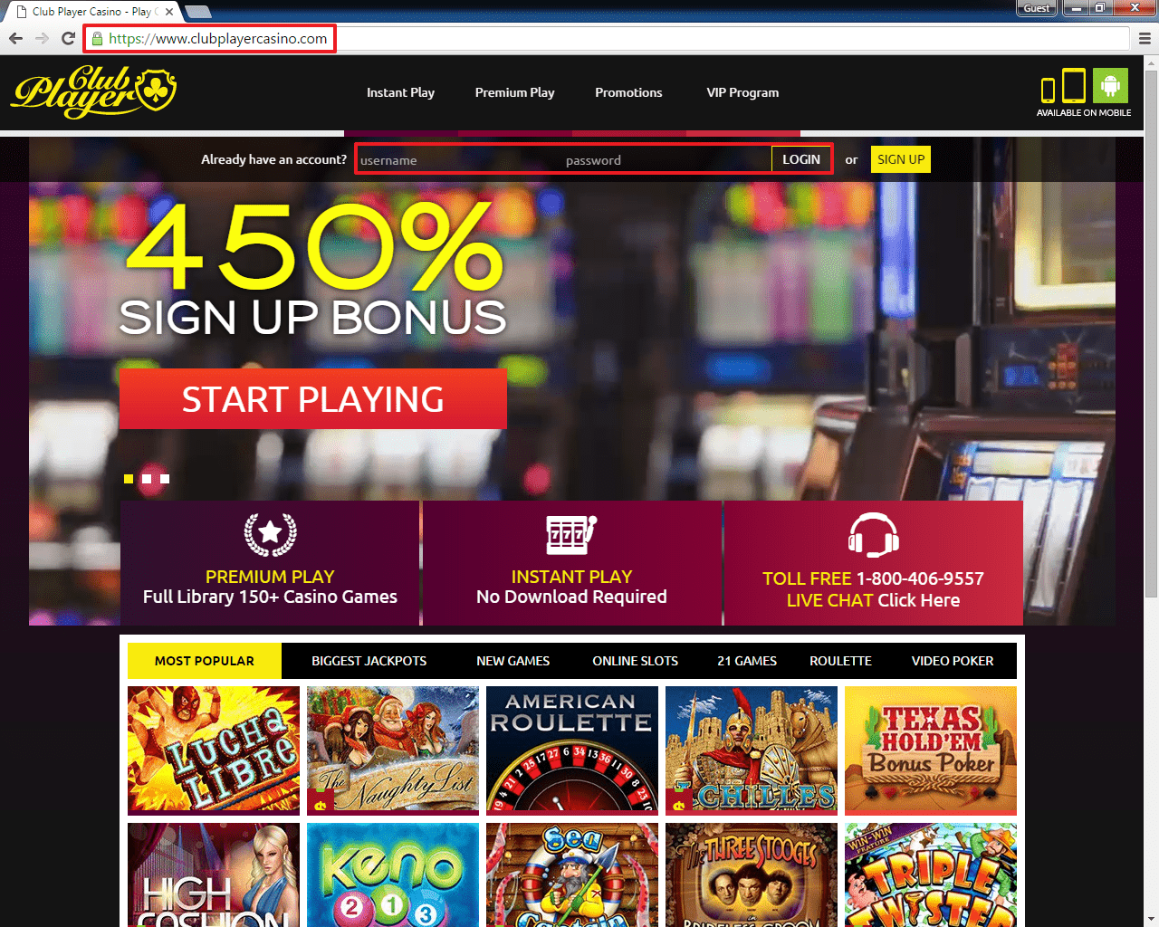 go casino club instant play