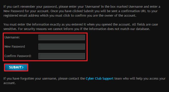 Cyber Club login 3