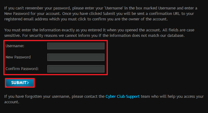 gaming club casino login