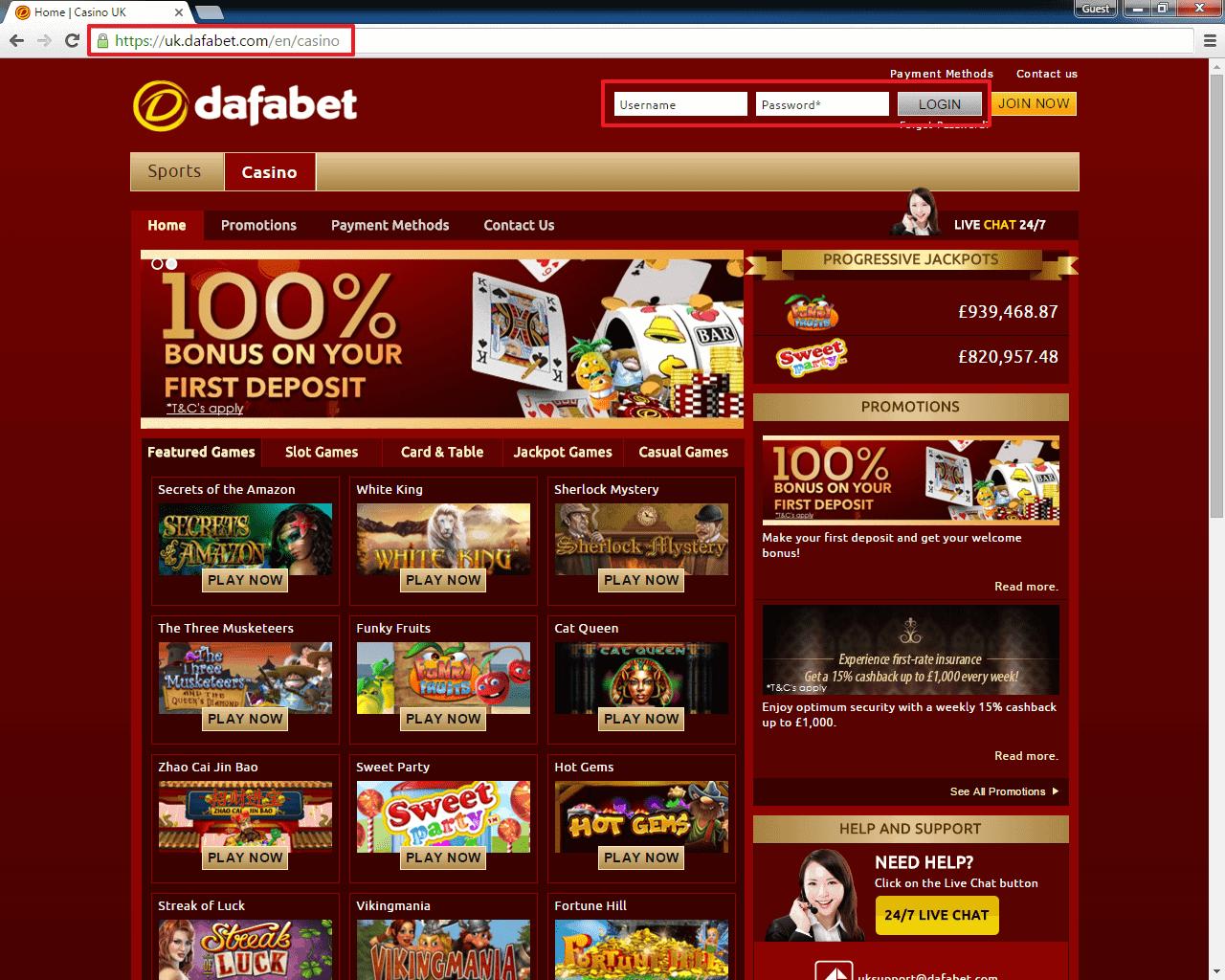 Dafabet Login | casinologin