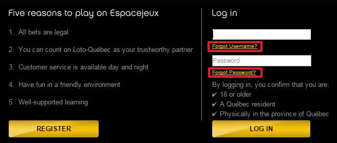Espacejeux login 3