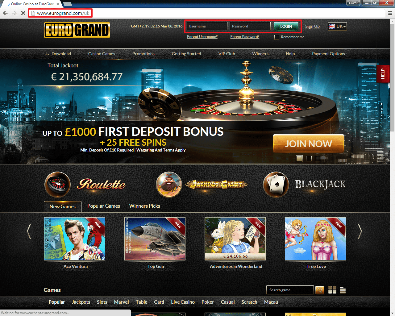 Casino min deposit 10
