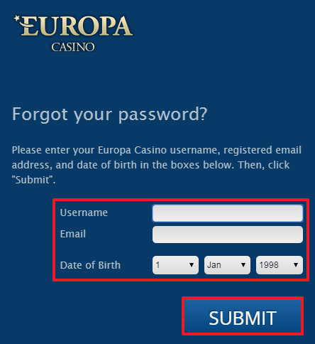 Europa Casino login 3
