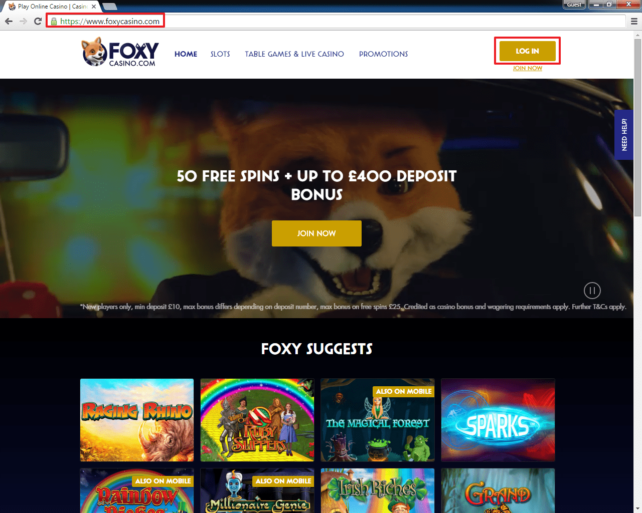 Free spins foxy casino