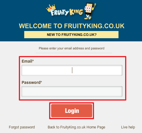 Fruity King login 2