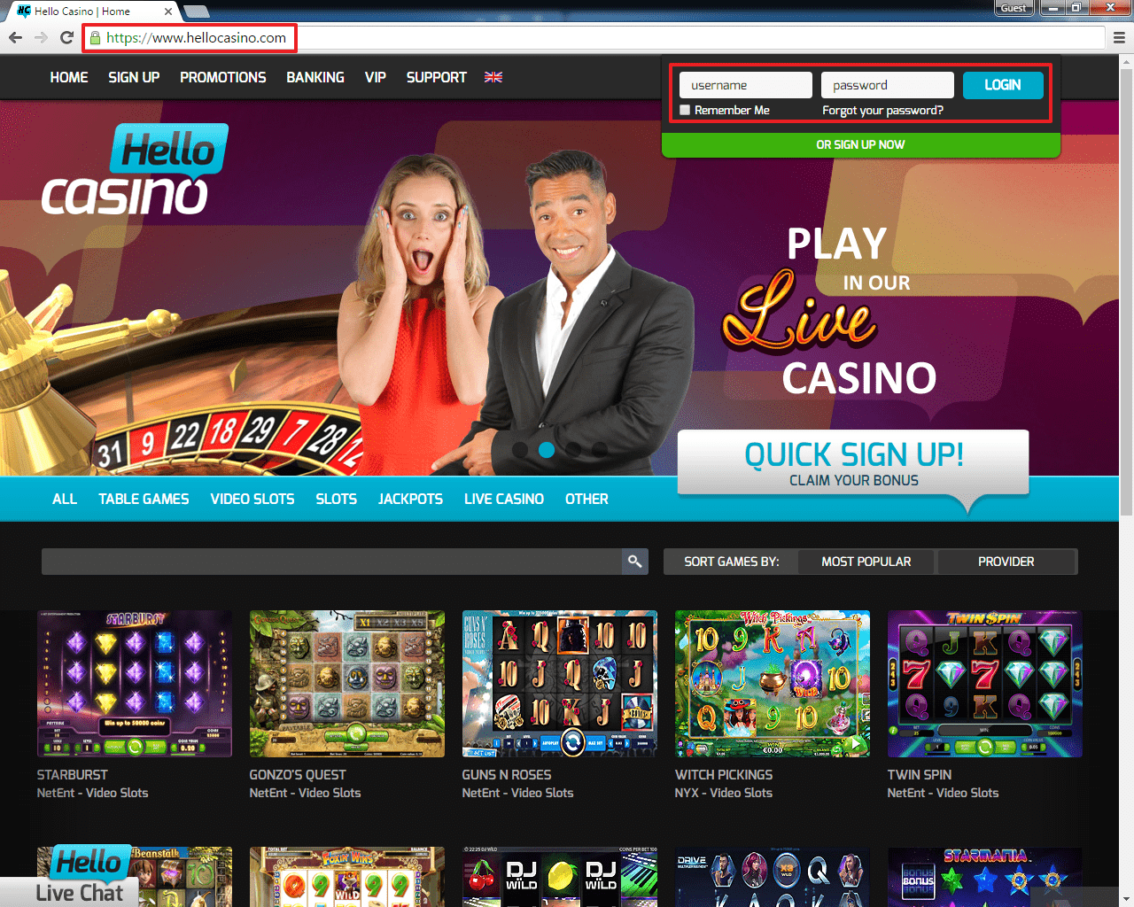 Best casino web biggest casino in california