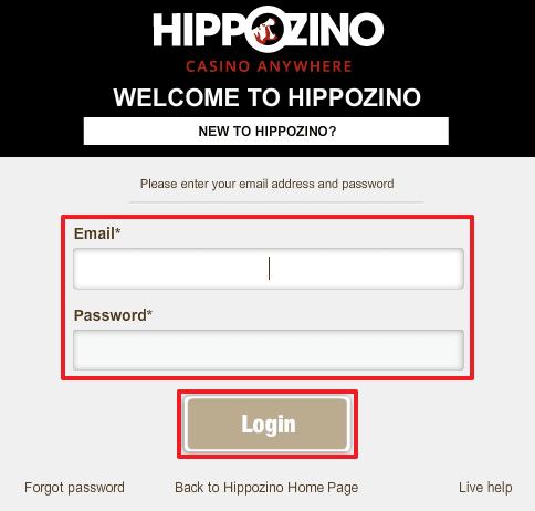 Hippozino login 3