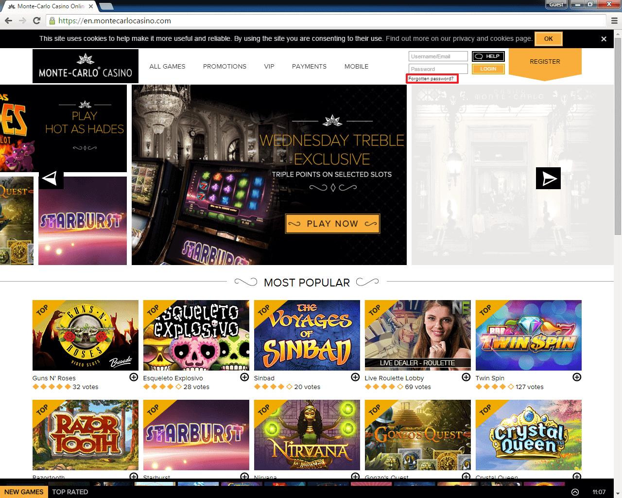 Monte-Carlo Casino login 2