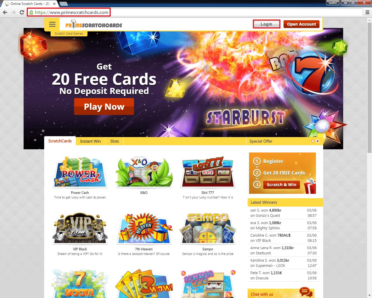 Is prime scratch cards legit codes