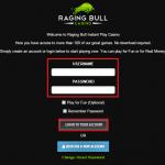 Raging Bull casino login 2