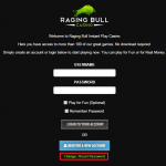 Raging Bull casino login 3