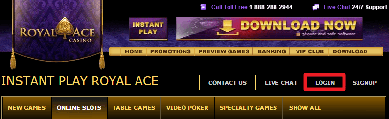 Royal Ace Casino Login