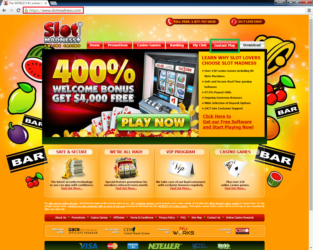 all slots flash casino login