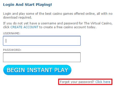 Virtual Casino Login
