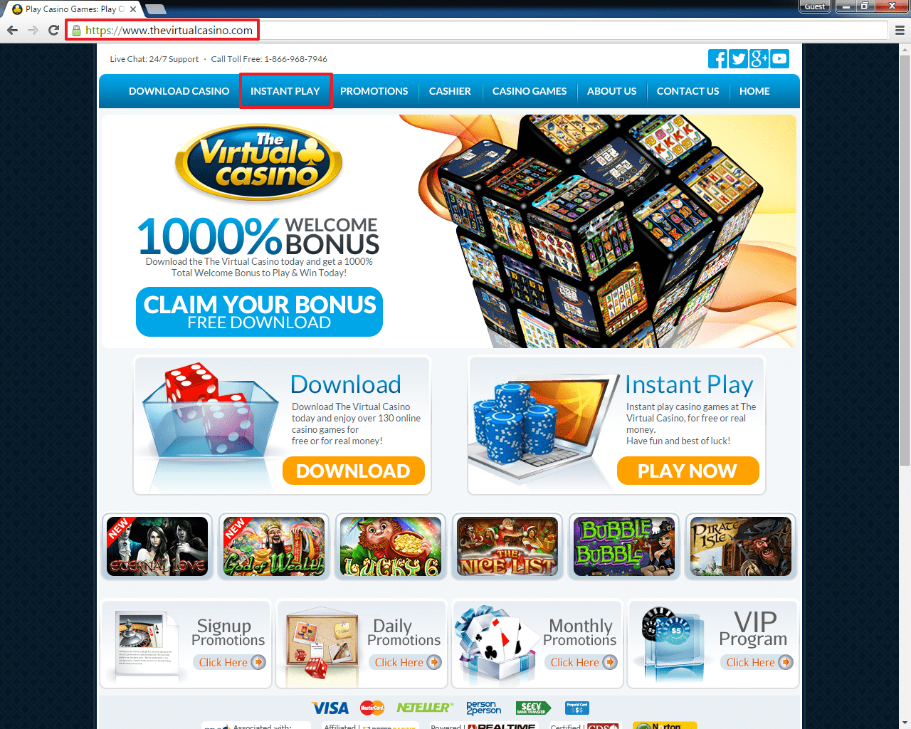 The Virtual Casino Instant Play