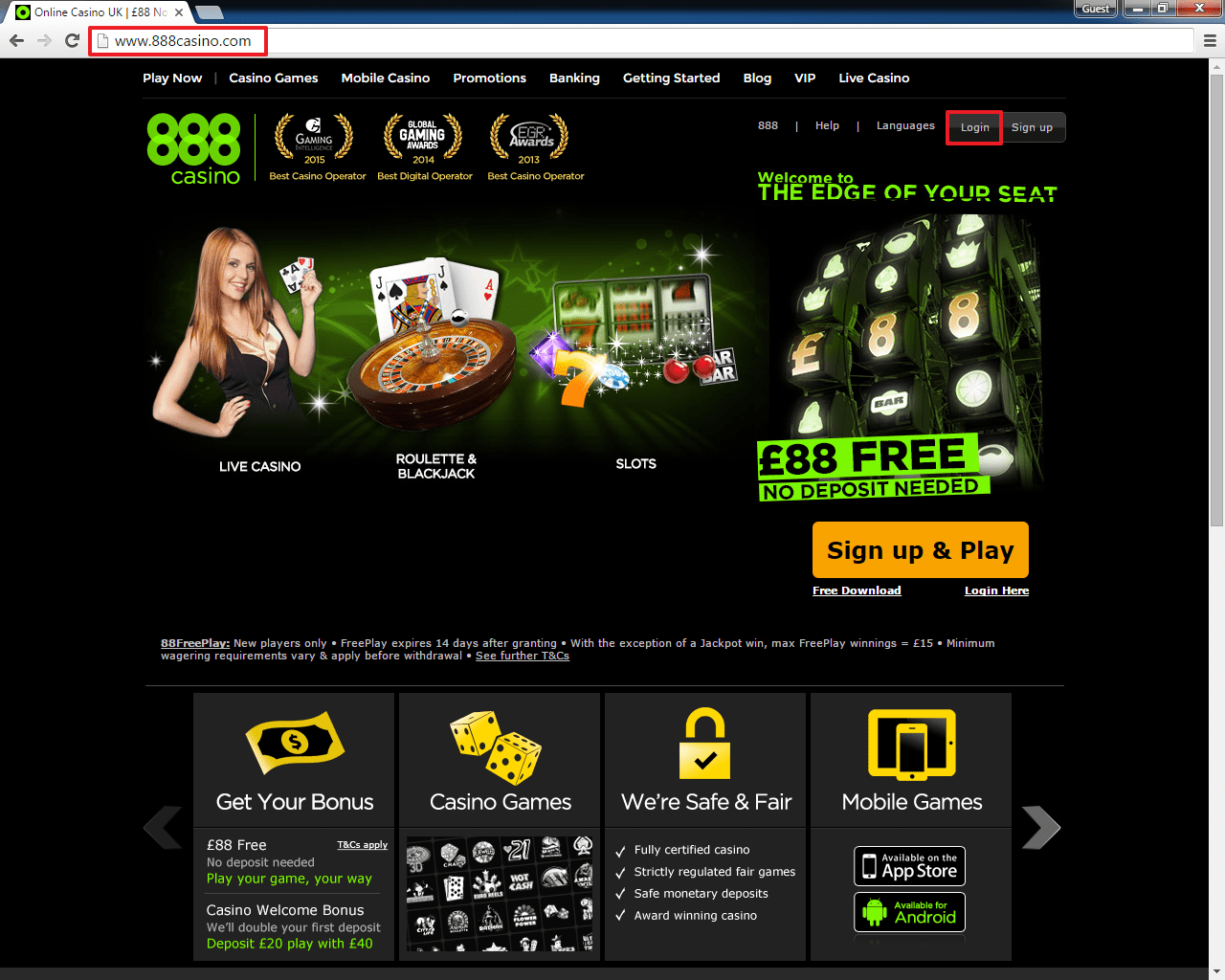 Eliminare account 888 casino