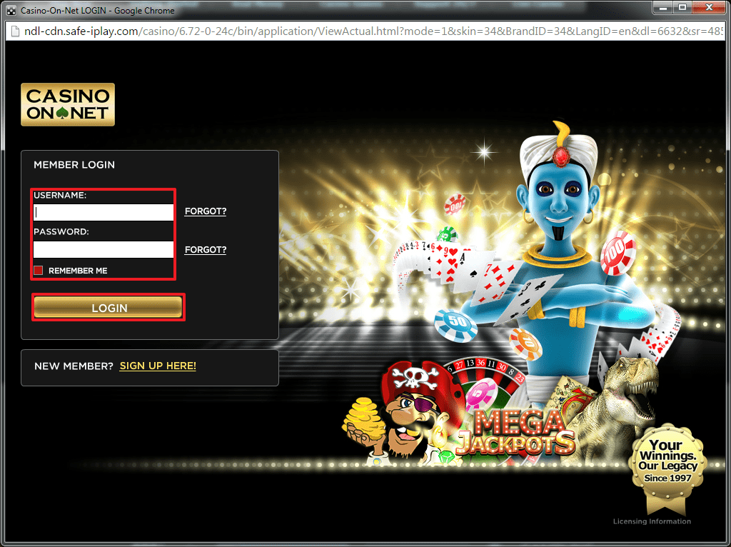 Betnet Ag Casinos Login