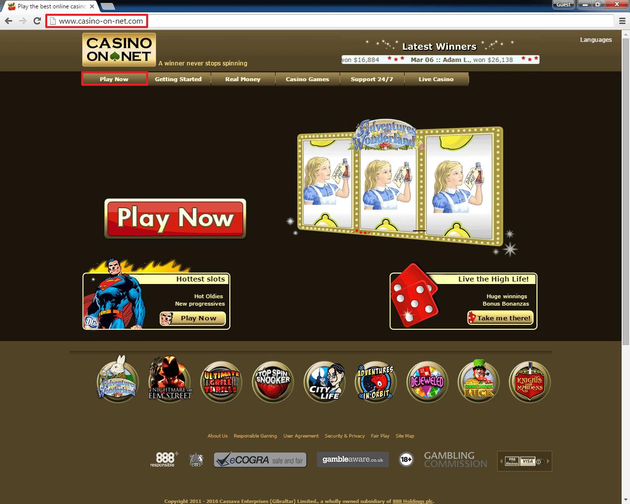 Casino On Net Auszahlung