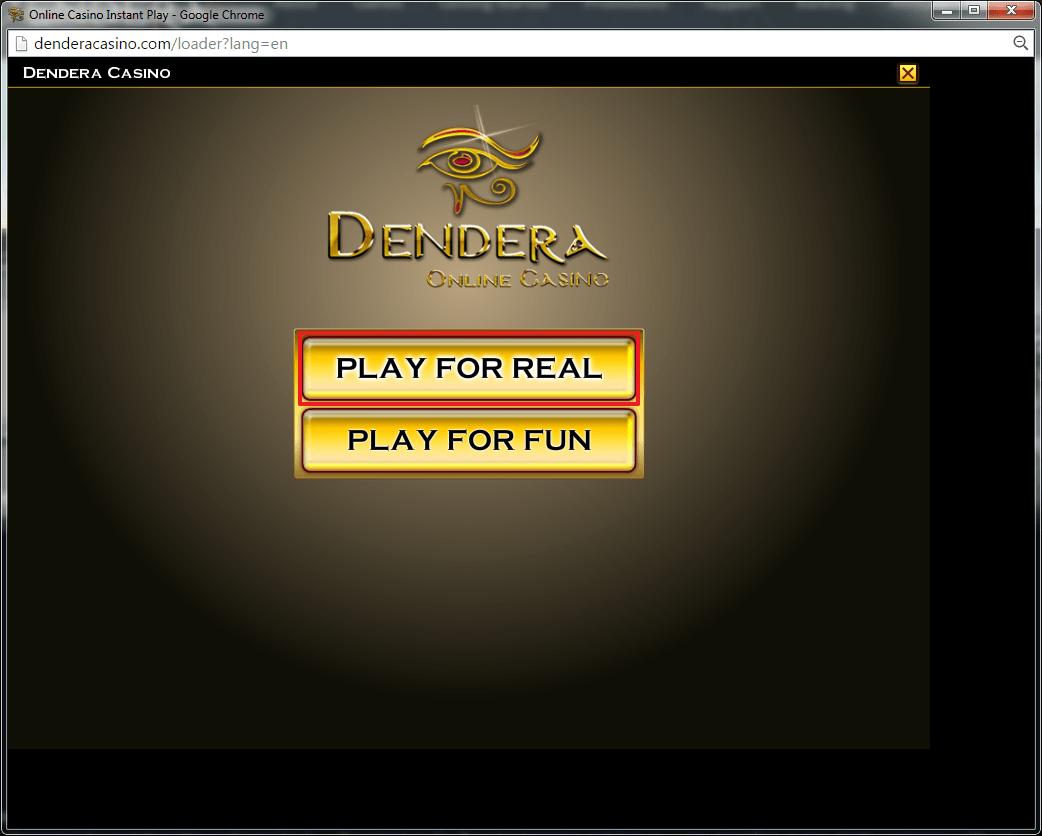Dendera Casino login 2