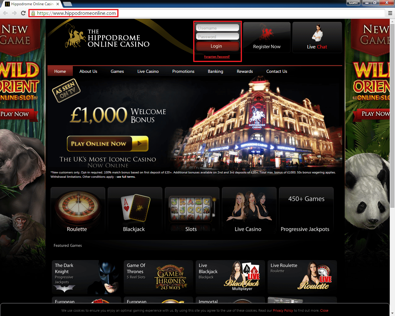 Hippodrome casino login 2