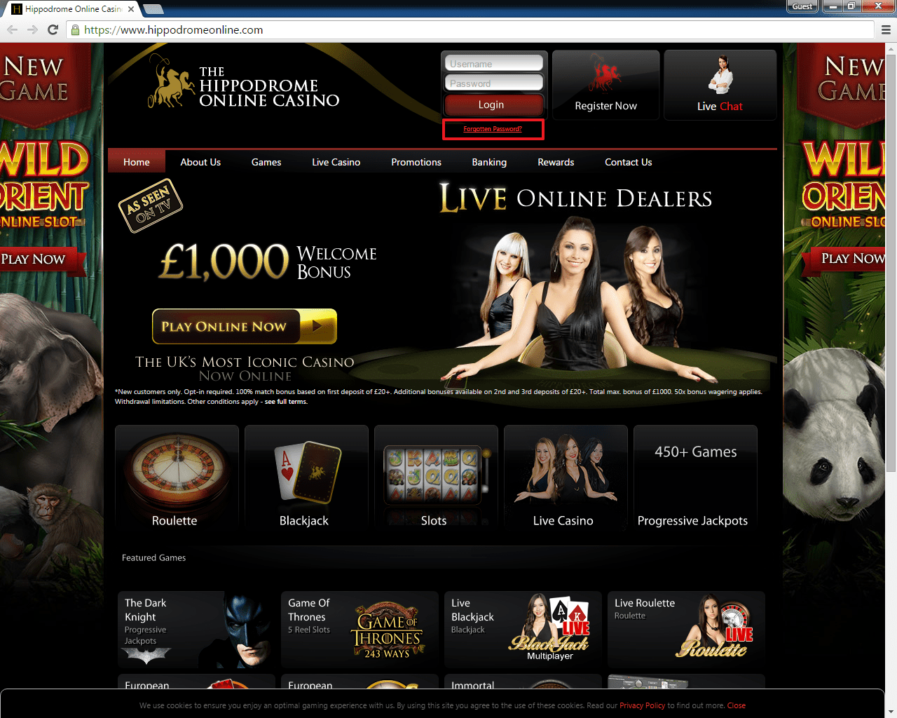 Hippodrome casino login 3