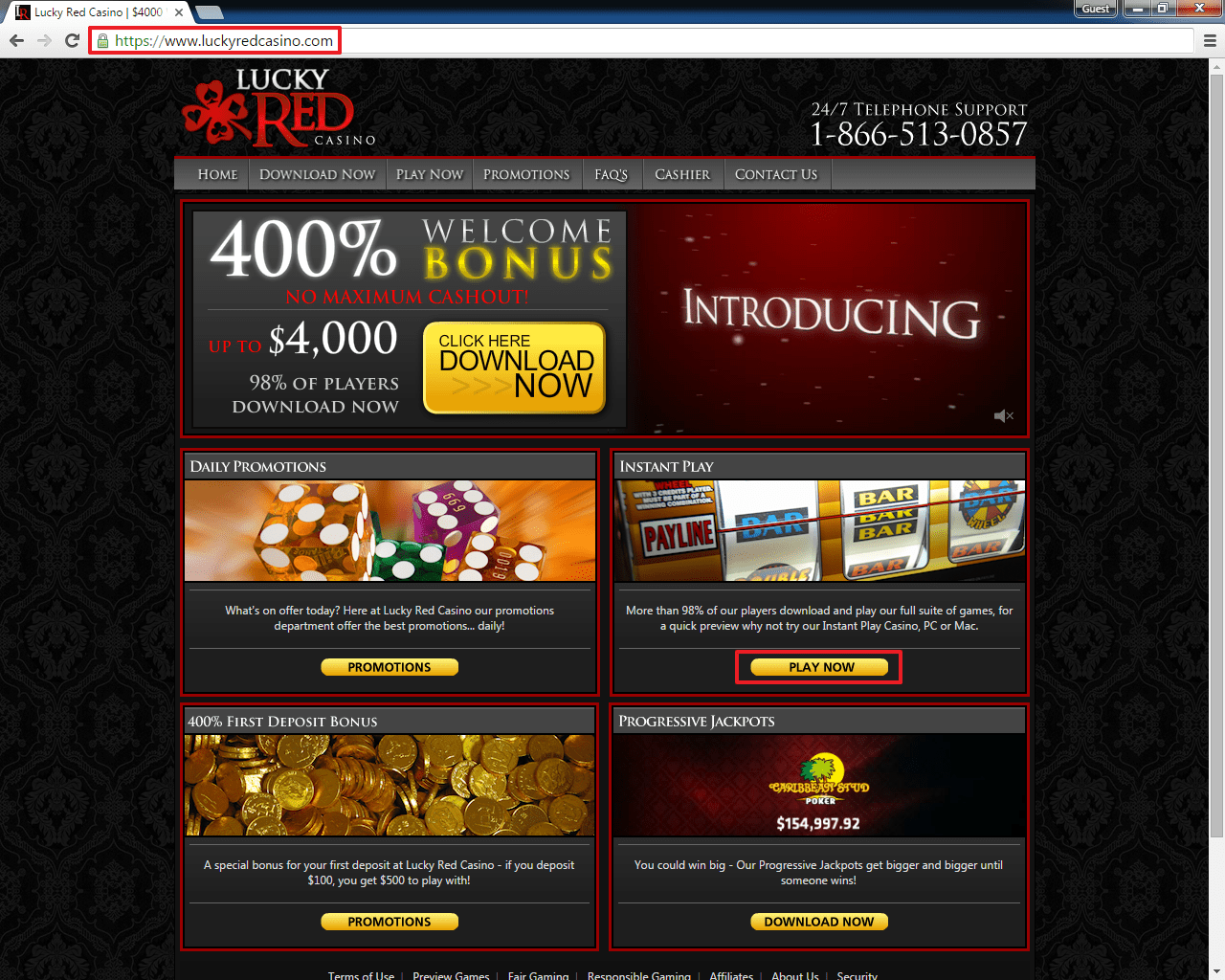 lucky red casino sign up bonus
