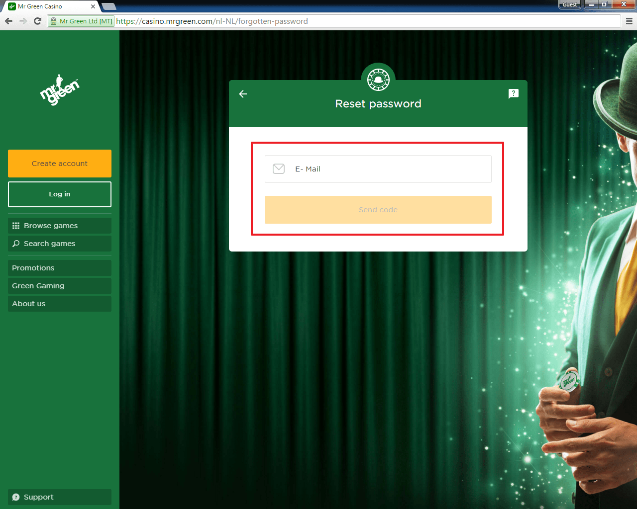 mrgreen login