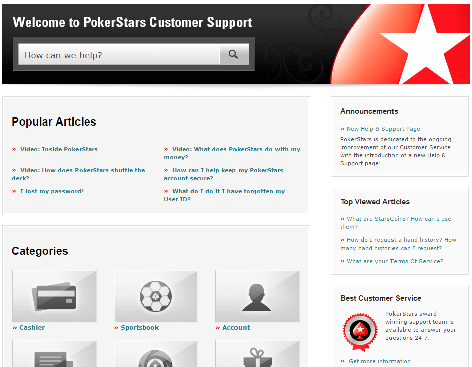 pokerstars account login