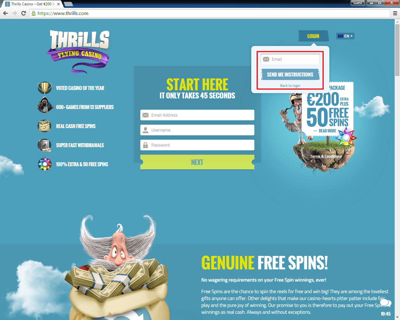 Thrills casino login 4
